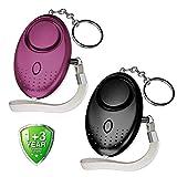 Abree Lot de 2 Alarme Personnelle Porte-clés 140 DB Police Approuvé Mini Loud...