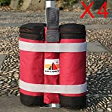 ABCCANOPY Super Heavy Duty New Premium Instant Shelters Weight Bags (55 lbs/Bag) - Set of 4 - Burgundy/Black