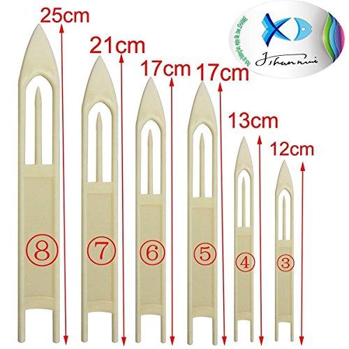 6 agujas para reparar red de pesca de Jshanmei®, tamaños 3, 4, 5, 6, 7 y 8, de plástico duro, 6PCS(3#-8#)