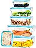 KICHLY - Recipientes de vidrio para comida - 12 piezas (6...