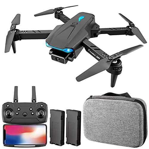 Aumaya Drone RC,S89 RC Drone con fotocamera 4K Wifi FPV Drone Mini Quadricottero pieghevole Giocattolo per bambini con controllo del sensore di gravit Modalit senza testa Gesto Foto Funzione video