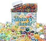 ビーズ260gぷよぷよボール 水で膨らむ(40000個)水虹混合ゼリー水成長ボール、子供の触覚感覚おもちゃ、花瓶、植物、結婚式、及び家装飾に適合します。