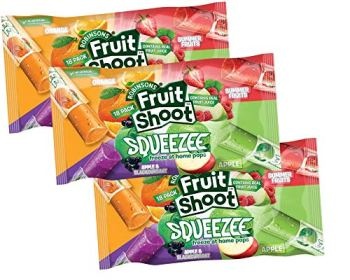 Fruit Shoot Squeeze Ice Lollies - 3 X (18 x30ml )Pack Freeze at Home Ice Lolly Pops with Real Fruit Juice, No Added Sugar, Gluten Free, Suitable for Vegetarians - 54 x 30mls