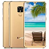 Unlocked Cell Phones Android 9.0 5.5' 18:9 HD Screen Face ID 1GB 16GB Metal Frame GPS Big Battery 3G Smartphone Global Version (Gold)