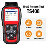 Autel TPMS Relearn Tool TS408, Upgraded Version of Autel TS401, TPMS Reset, Sensor Activation, Program, Key Fob Testing, with Lifetime Update
