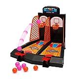 WISHTIME Tablero Minibasket Juego de Tiro Juego de 2 Jugadores Shootout Aros Baloncesto con...