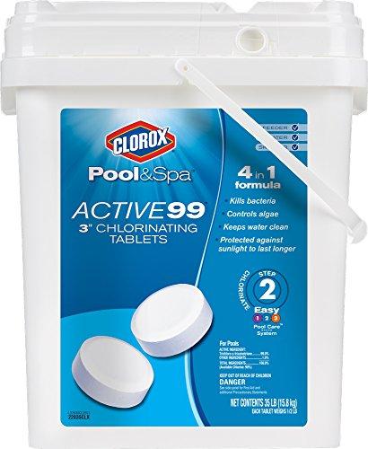 Clorox Pool&Spa Active 99 - Tabletas de cloro de 7,62 cm, 2.3 kg (5 libras)