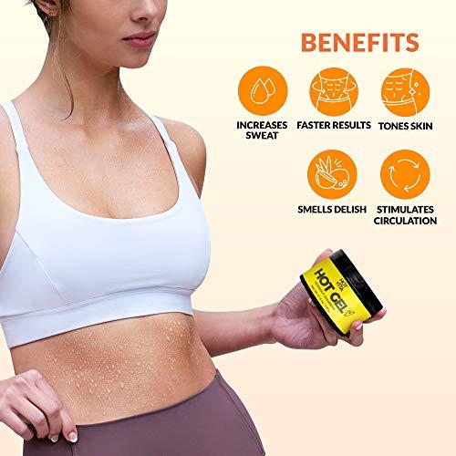 Hot Vita Hot Gel – Sweat Cream Workout Enhancer Belly Slimming Gel (4 oz) 8