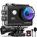 COOAU Caméra Sport Webcam PC Mode 4K 20MP avec Wi-FI Microphone Externe...