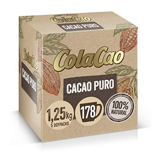 ColaCao Puro 100%: Cacao Natural y Sin Aditivos - 1,25kg's