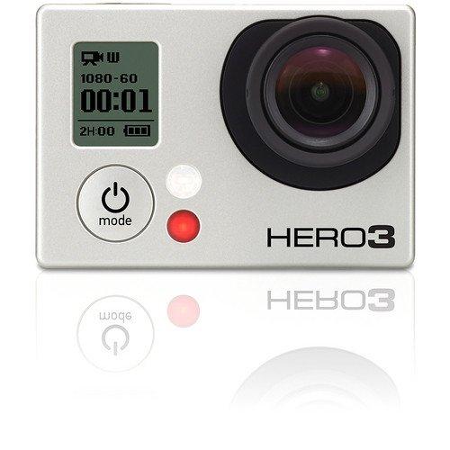 GoPro Hero3 Silver Edition, Videocamera Digitale 11 Megapixel, Full HD, Wi-Fi, Grigio