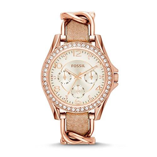 Fossil Damen Analog Quarz Uhr mit Edelstahl Armband ES3466