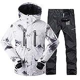 Xzwzhqxs de vêtements de Ski Hommes d'hiver épaissie Coupe-Vent Réchauffez...