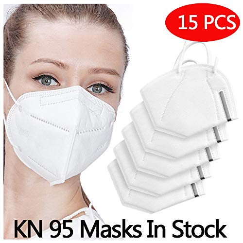 Anti Pollution N95 Mask,AUSDIN N95,FFP2 Anti Pollution Mask Dust-Proof and Anti Smoke Mask 98% filtration effect,Unisex,for Outdoor Construction,Paint, Gardening,DIY,Home 15 pack