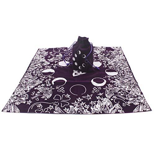 MYA - Mantel de Tarot con Funda de Terciopelo, diseño de Bruja y Luna, 1 Unidad
