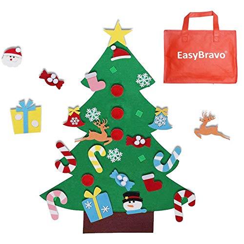 EasyBravo El árbol de Navidad del Fieltro de los 3.6FT DIY
