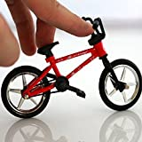 OWIKAR 4.9' Mini Alloy Finger Bikes Functional Finger Mountain Bike BMX Fixed Bicycle Novelty Toys Game for Kids Boys Girls Red Blue Yellow Green Random Color