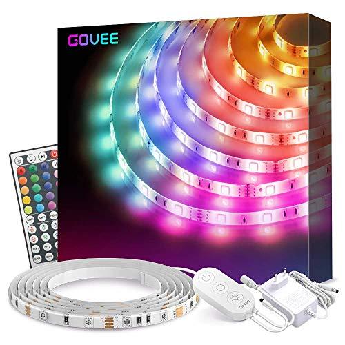 Striscia LED Govee 5M Aggiornata Impermeabile RGB SMD 5050, Luci LED con Telecomando per Camera da...
