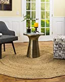 Natural Area Rugs - Round Jute Rug, Elsinore Collection, Hand Braided, Earth Friendly Natural Fiber Rug, Handmade & Reversible, Beige 7 ft