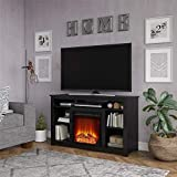 Ameriwood Home Edgewood Fireplace 55', Black TV Stand