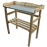 PROHEIM Table de rempotage/Jardinage 82 x 78 x 38 cm en Couleur Bois Naturel -...
