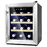 Cecotec Cave à vin Grand Sommelier 1200 CoolWood. Capacité pour 12...