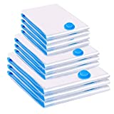 Vacwel 10 Pièces Sacs de Rangement sous Vide 3L (100 x 80 cm) + 3M (80 x 60 cm)...