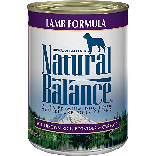 Natural Balance Ultra Premium Wet Dog Food, Lamb Formula with Brown Rice, Potatoes & Carrots, 13 Ounce Can (Pack of 12)