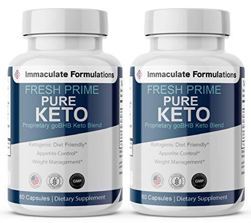 Fresh Prime Keto Pills - Keto Diet Pills & Weight Loss Capsules BHB Supplement 800mg, Keto Fresh Prime Diet Pills BHB Ketones Slim Pills for Energy, Focus - Exogenous Ketones 2 Bottles - 120 Capsules 1