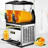 VEVOR Slush Frozen Drink Machine, 2x15L Tank Commercial Margarita Machine, 1000W Stainless Steel Margarita Slush Maker, Temperature Slush 25°F to 30°F Drink Maker, Perfect for Restaurants Cafes Bars