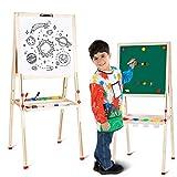 amzdeal Tableau Enfant Double Face Chevalet de Peinture Enfants pour de 3...