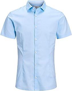 Jack & Jones Jprblaparma Solid Shirt S/S Plain Camisa para Hombre