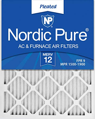 Nordic Pure 16x25x1 MERV 12 Pleated AC Furnace Air Filters 6 Pack