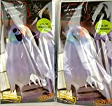 Halloween Light-Up Ghost Fabric Hanging Decoration 2 pack Great for Halloween decorations