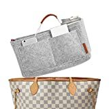 FOREGOER Purse Insert Handbag Organizer Bag in Bag Organizer with Handles - Small