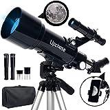 Upchase Télescope Astronomique, 400/70mm Portable Réfraction Télescope,...