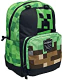 JINX Minecraft Creepy Things Kids School Backpack, Green. 17'