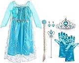 Vicloon Elsa Princesse Robe/Deguisement de La Belle et La Bête/Cape à...