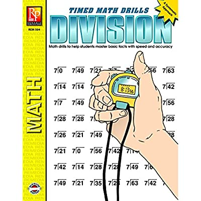 Timed math Drills: division Success in all areas of mathematics starts with a Solid knowledge of the Basic facts This book provides concentrated practice of Basic division facts to help students REACH Mastery level Provides step-by-step practice in d...