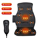 Giantex Car Seat Back Massager Cushion with Heat, 10 Vibrating Motors, 5 Modes and 3 Speed Levels to Choose, Massage Cushion Chair Pad for Auto Home Office