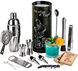 Mixology Bartender Kit: 14-Piece Cocktail Shaker Set - Bar Tool Set...