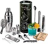Mixology & Craft Kit barman Shaker à cocktail et accessoires de bar, SS...