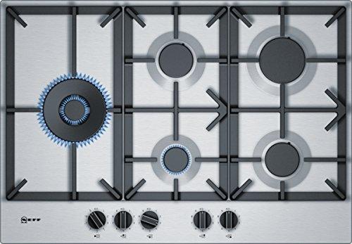 Neff TDS2779N - Piano cottura a gas, a incasso, 5 elementi riscaldanti, 75 cm, in acciaio INOX