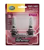 HELLA 100WTB Wattage-100W High Wattage 9005 Bulbs, 12V, 2 Pack