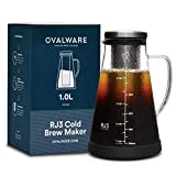 Airtight Cold Brew Iced Coffee Maker and Tea Infuser with Spout - 1.0L...