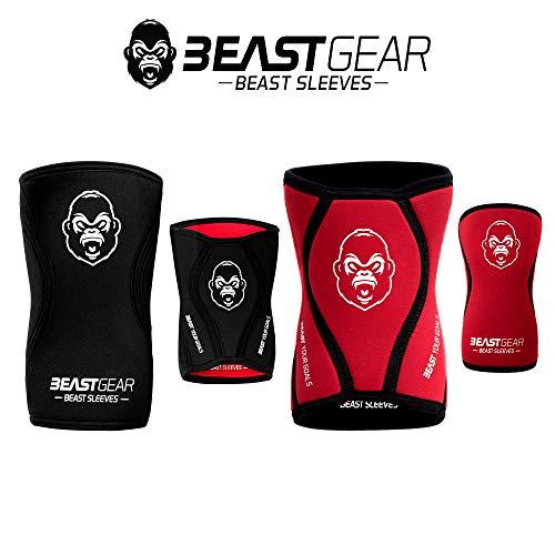 Beast Gear Rodilleras Deportivas Beast - Rodilleras Neopreno 5mm con...