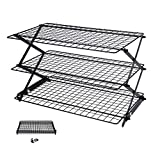 Geesta 2/3 / 4 - Tiers Collapsible Cooling Rack with Adjustable 3 Setting Design Stackable Cooling Roasting Cooking for Cookies Baking