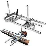 SurmountWay Portable Chainsaw Mill Planking Milling from 14' to 36' Guide Bar Wood Lumber Cutting Sawmill Aluminum Steel Chainsaw Mills for Builders and Woodworkers (14''-36'')