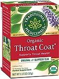 Traditional Medicinals Organic Throat Coat Seasonal Tea, 16 Tea Bags (Pack of 6)