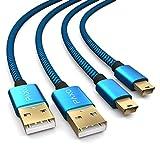 2 x 4m câble de Chargement pour contrôleur PS3, câble USB à Mini USB Long,...